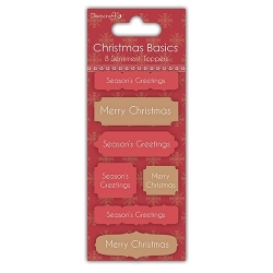 Dovecraft Christmas Basics Sentiment Toppers - Merry Christmas (DCTOP009X15)