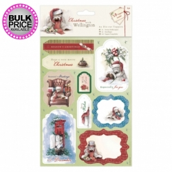 A5 Die-cut Toppers (2pk) - Wellington Christmas (WEL 157902)