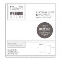 "PMA 158140 6 x 6"" Vellum Inserts (25pk) - Wedding"