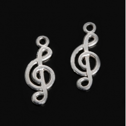 Metal Charms - Treble Clef
