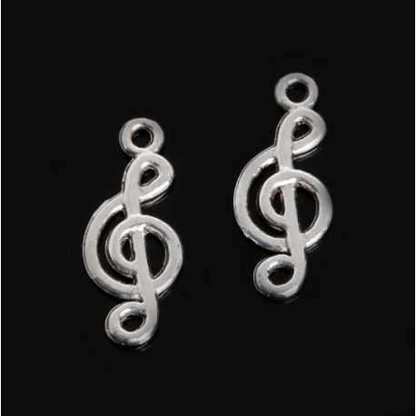 Metal Charms - Treble Clef (10)