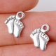 Metal Charms - Baby Feet (10)