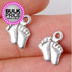 Metal Charms - Baby Feet (14)