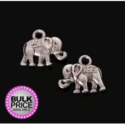 Metal Charms - Elephants (10)