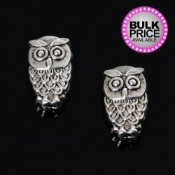Metal Charms - Mini Owls (8)