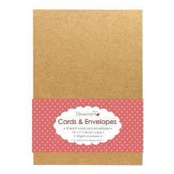 "Dovecraft Kraft 5""x7"" Cards & Envelopes (DCCE023)"