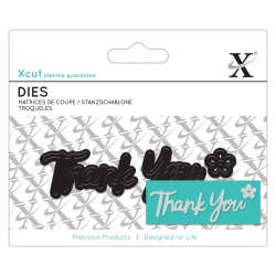 Mini Sentiment Die (3pcs) - Thank You (XCU 504034)