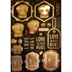 Forever Friends Classic Decadence Die-cut Decoupage - Love & Hugs