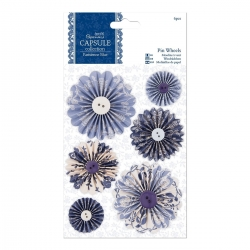 Pin Wheels (6pcs) - Parisienne Blue (PMA 359101)