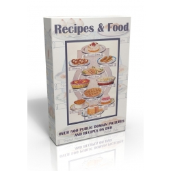Public Domain Image DVD - Recipes and Food