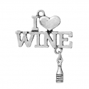 Metal Charms - I Love Wine (2)