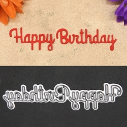 Printable Heaven Weeny Sentiments Die - Happy Birthday