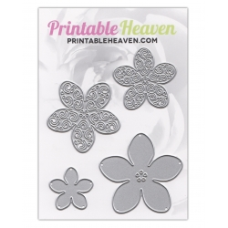 Printable Heaven dies - 4-piece Flower set (4pcs)
