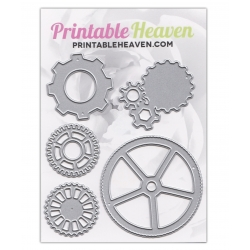 Printable Heaven Dies - Steampunk Cogs (5pcs)