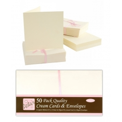 Anita's Cards/Envelopes - Square Cream (ANT 1512021)