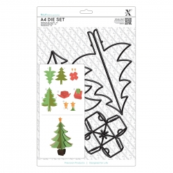 A4 Dies (5pcs) - Build A Christmas Tree (XCU 503214)