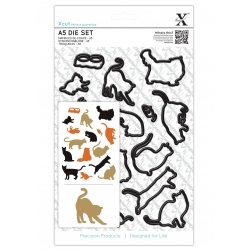 A5 Die Set (16pcs) - Mixed Cats (XCU 503249)