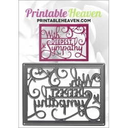 Printable Heaven die - With Deepest Sympathy (1pc)
