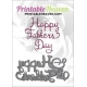 Printable Heaven die - Happy Father's Day (1pc)