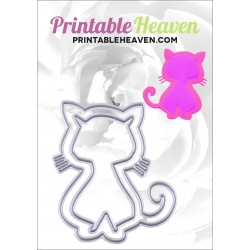 Printable Heaven dies - Nesting Cats (2pcs)
