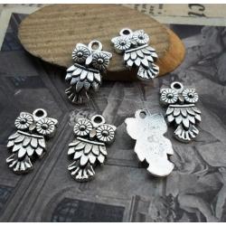 Metal Charms - Owls (6)