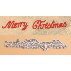 Printable Heaven Weeny Sentiments Die - Merry Christmas