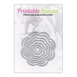 Printable Heaven dies - Nesting Flowers (7pcs)