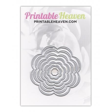 Printable Heaven dies - Nesting Flowers (7pcs)