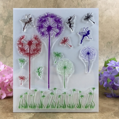 Clear Stamp set - Dandelion Clocks & Fairies