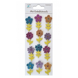 Little Birdie Embellishments - Glitter Flower Stems (CR41447)