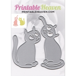 Printable Heaven dies - Playful Cats (2pcs)