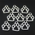Metal Charms - Paw prints (12)