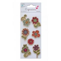Little Birdie Expressions - Kraft Printed Flowers with Flourish (CR37342)