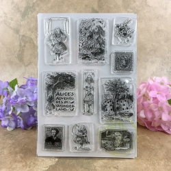 Clear Stamp set - Alice in Wonderland
