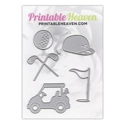 Printable Heaven dies - Golf (5 pcs)