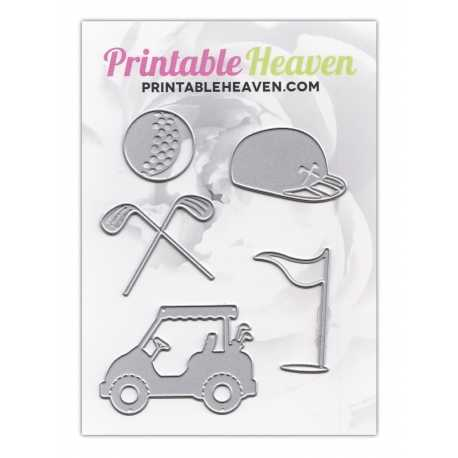 Printable Heaven dies - Golf (5 pcs)
