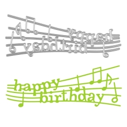 Printable Heaven die - Happy Birthday Music (1pc)