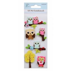 Little Birdie Embellishments - Owls in Felt (CR39686)