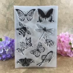 Clear Stamp set - Butterflies (9pcs)