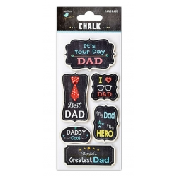 Little Birdie Embellishments - Chalk Father's Day (CR41444)