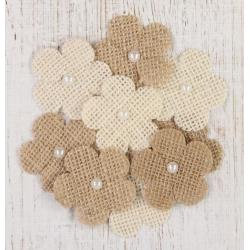 Little Birdie Embellishments - Burlap Flowers (CR25315)
