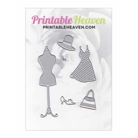 Printable Heaven dies - Dress set (5 pieces)