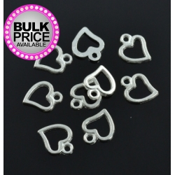 Metal Charms - Hollow Hearts (30)