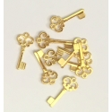 Metal Charms - Keys, Gold (14)