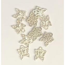 Metal Charms - Butterflies (12)