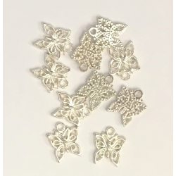 Metal Charms - Butterflies (12)