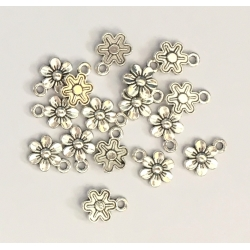 Metal Charms - Flower-head (12)