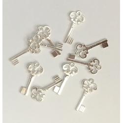 Metal Charms - Keys, Silver (14)