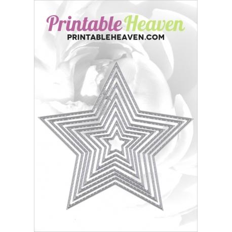 Printable Heaven dies - Nesting Stars (8pcs)