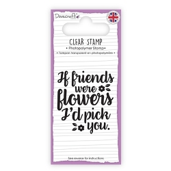 Dovecraft Clear Sentiment Stamp - Flowers (DCSTP096)